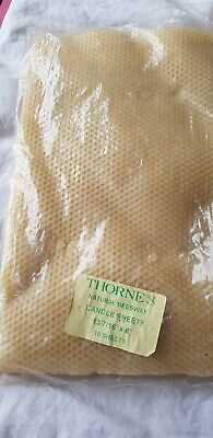 10  Thorne's Natural Beeswax Candle Sheets. 34cm x 20cm