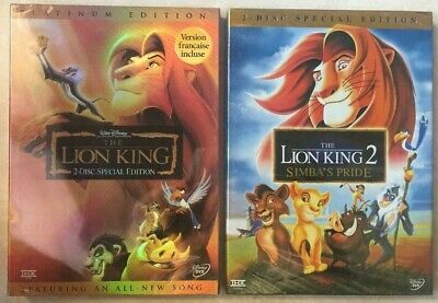 Disney's Lion King 1 & 2  (DVD )  Brand New Sealed  >>Free Shipping>>>