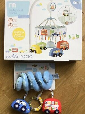 Mothercare On The Road Musical Cot Mobile & Spiral Cot / Pram Toy 🚙 Brand New