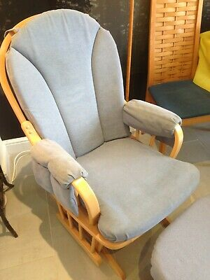 Excellent Mothercare Nursery Rocking Chair And Stool Dove Blue 3 50 Short Links Chair Design For Home Short Linksinfo