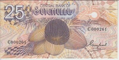 Seychelles Banknote P29, 25 Rupees, Low Serial Number, Unc