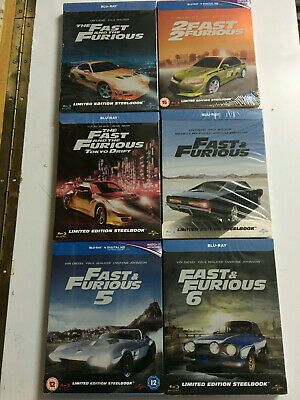 Fast and Furious Steelbook 1-6 BLURAY Varias Ediciones