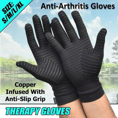 1Pair Anti Arthritis Gloves Compression Support Hands Pain Relief Carpal Tunnel
