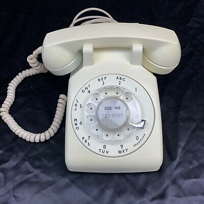 Nice 1957 Western Electric Wihte Rotary Dial 500 C/D phone telephone