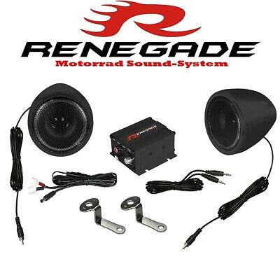 Renegade RXA100B MOTORRAD SOUND SYSTEM  BLACK EDITION 100W