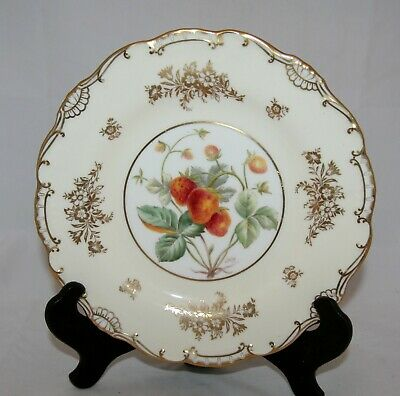 Minton Hand Painted 'Strawberry' Plate Signed J. Kalisz