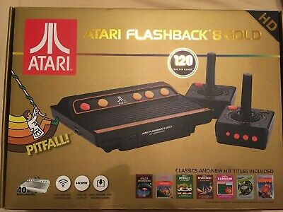 Atari Flashback 8 Gold Deluxe HD Games Console Brand New High Definition HDMI