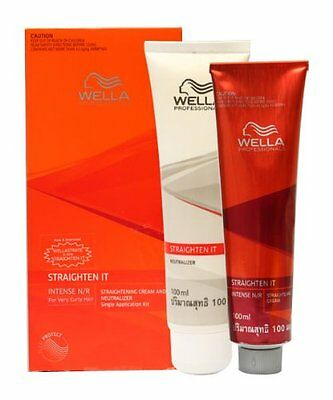 Wella WELLASTRATE INTENSE Permanent Hair Straightener Straightening Kit Cream