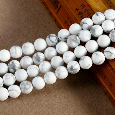 4-12mm Natural Round Howlite Loose Beads Diy Accessories Strand Handmade Charm