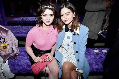 GLOSSY PHOTO PICTURE 8x10 Jenna Coleman Posing Happy With Maisie Williams