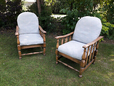 Antique vintage pair of armchairs