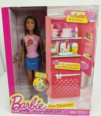 Mattel Year 2014 Barbie Glam Series 12 Inch Nikki Doll Furniture Accessory Set