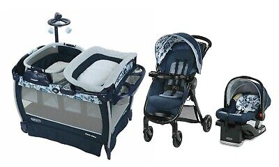 Graco Baby Stroller Combo with Car Seat Travel System Rocker Playard Girls Boys