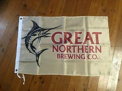 Mancave ideas bar flag banner poster beer great northern brewing man cave flag