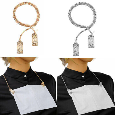 Alloy Towel Apron Bib Napkin Chain Clip Holder for Napkin Placed Safe Dining 16""