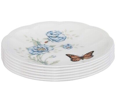"""Butterfly Meadow Party Plates Set Of 6 Party White 6"""" New 817046"""