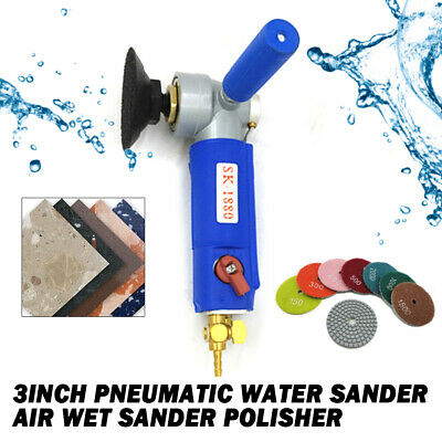 """NEW 5/"""" Wet Air Sander Polisher with 5//8-11NC Arbor pneumatic tool marble granite"""