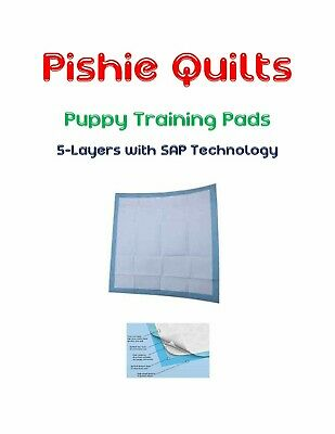 """Odor Fighting SUPER ABSORB Puppy Pads 23x36"""" 5-Layer Polymer Long Lasting 8hr"""