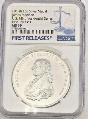 James Madison 1809 Presidential Silver Medal MS70 PCGS First Strike 2019