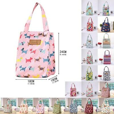 Clever Ladies Girl Kids Portable Insulated Lunch Bag Box Picnic Tote Cooler New