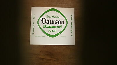 OLD USA BEER LABEL, DAWSON BREWERY NEW BEDFORD MASSACHUSETTS, 15 gal DIAMOND ALE