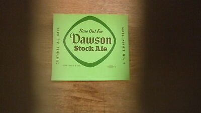 OLD USA BEER LABEL, DAWSON BREWERY NEW BEDFORD MASSACHUSETTS, 15 gal STOCK ALE