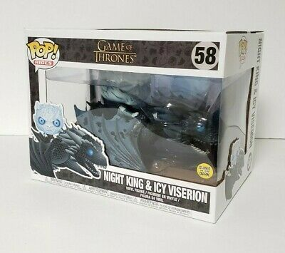 Funko Pop Rides Game of Thrones Night King & Icy Viserion 58 Glow in the dark