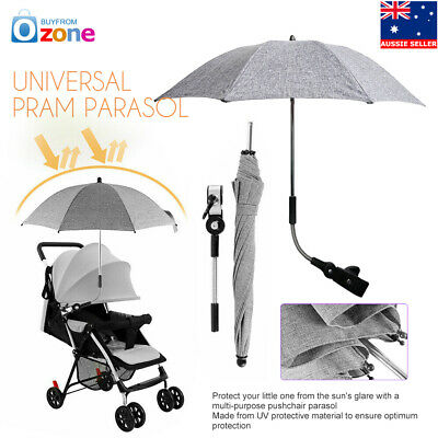 Large Baby Sun Umbrella Parasol Buggy Pushchair Pram Stroller Shade Canopy Cover