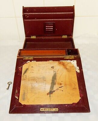 Antique Small Travelling / Ladies Writing Slope / Stationary Box  D12