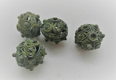 Detector Finds Collection Of Ancient Roman Silver Filigree Beads