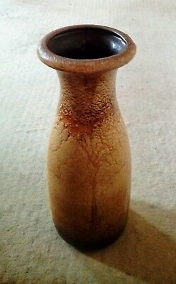 Very unusual glazed 70´s design Scheurich Keramik pottery vase 203-26 Unused
