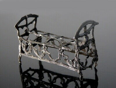 Extremely Rare Medieval Pewter Toy Cradle (M603)