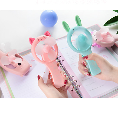 Cartoon Mini Hand Fan Kids Handheld Manual Shaking Fan Bear Rabbit Portable Toy