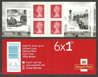 Gb 2019 D-Day Normandy Landings Military Tanks Booklet Mnh