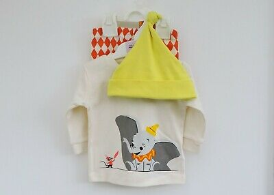 Disney Dumbo Outfit - Top Trousers and Hat.  0 - 6 months.  Baby Girl or Boy
