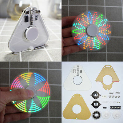 DIY Spinner LED Colorful Gyro Kit Kids & Adults Focus ADHD Anti-Anxiety Toy