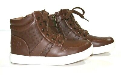 NWOT  Kenneth Cole Reaction Brown High Top Sneakers Little Boys Size 13