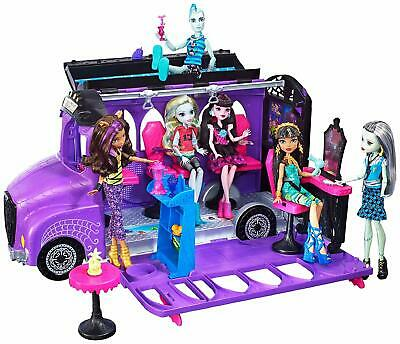 Monster High Mattel FCV63 - Deluxe Bus and Mobile Salon Toy Playset Pedicure