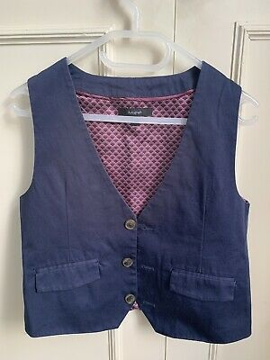 M&S Autograph boys' Navy Blue Waistcoat, 6-7yrs, Page Boy, Wedding