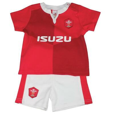 Wales RFU Rugby Union Kit T-Shirt Shorts Babies Team Babygrow Playsuit Baby Boys