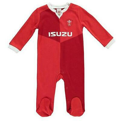 Wales Rfu Rugby Union Kit Babies Sleep Suit Baby Grow Body Romper Boys Clothes