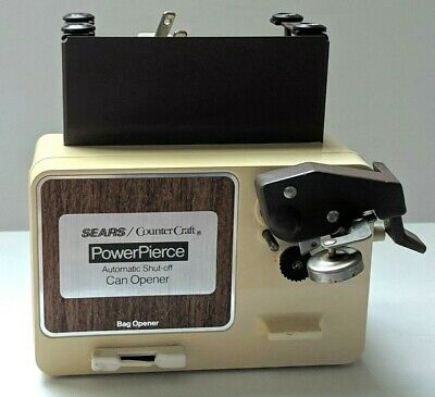 Vintage Sears Counter Craft Power Pierce Under Cabinet Can Opener Space Maker