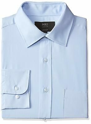 Ex Marks and Spencer M&S Collection Mens Pure Cotton Office Shirt - Brand New