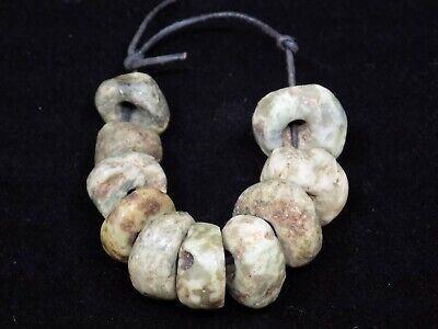 Pre-Columbian Jade Beads, Round Jade Mayan Beads Lot of 10 Central America