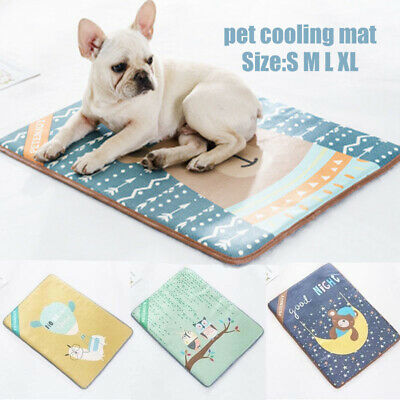 Pet Cooling Mat Non-Toxic Cool Pad Cooling Pet Bed Pads for Summer Dog Cat Puppy