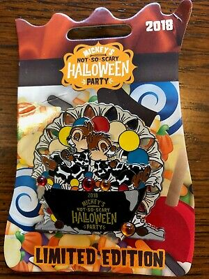 Mickey's Not So Scary Halloween Party 2018 Le Chip & Dale Spinner Pin New