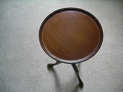 Victorian Mahogany Round Side Occasional Tripod Table