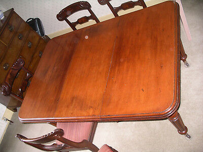 Victorian mahogany wind out dining table. Lovely patina