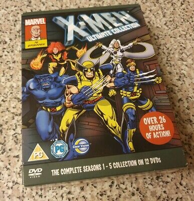 X-Men Ultimate Collection Complete Seasons 1-5 (DVD, 2011, 12-Disc Set) Rare
