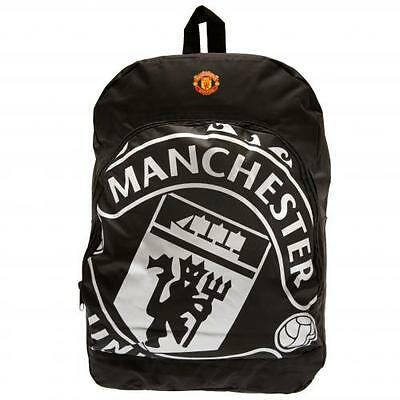 Manchester United FC / Man Utd Official Black Nylon Backpack School Bag Present